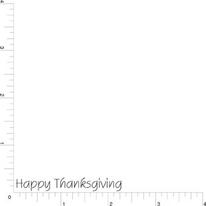 1 Line Happy Thanksgiving Rubber Stamp By DRS Designs