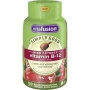 Vitafusion Simply Good High Potency Vitamin B-12, Pomegranate, 130 Gummies (Pack of 2)
