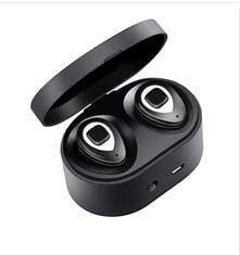 Wireless Bluetooth Headset, Stereo Headset, with Microphone Headset and Noise Reduction, Sweat-Absorbent Sports Headphones, with Charging Box,