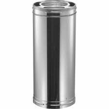 DuraVent 6DT-18 6'' Inner Diameter - DuraTech Class A Chimney Pipe - Double Wall, Galvanized