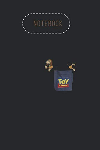Notebook: Disney Pixar Toy Story Slinky Dog Pocket Graphic Wide College Lined Notebook Journal Notebook Gifts Black Cover Journal Size 6in - 9in - 125 Pages Write in Take Note