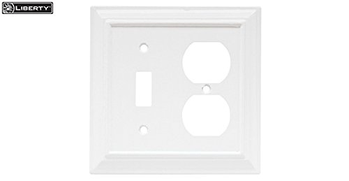 - Brainerd 64544 Single Switch/Duplex Wood Architectural Collection, White