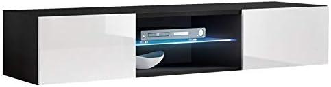 muebles bonitos – Mueble TV Modelo Tibi (160 cm) en Color Negro y Blanco: Amazon.es: Hogar