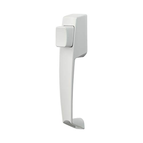 Ideal Security BK311W VP Push Button Storm Door Handle Set All All Metal Components, Premium Inside Latch, No No Key, White (Set Latch Door)