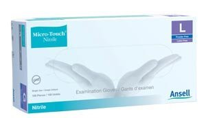 Ansell 6034302 Micro-Touch Nitrile Powder-Free Synthetic Exam Glove, Medium (Pack of 2000)