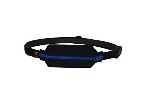 SPIbelt Adult Diabetic Belt, No-Bounce Discreet T1D Medical Belt, Hole for Insulin Pump, EpiPen or Other Medical Devices, Made in USA for Men and Women, Adjustable One Size, Expandable Pouch