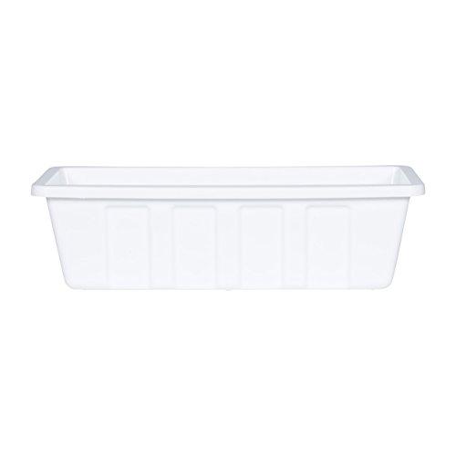 Novelty Poly-Pro Plastic Flower Box Planter, White,