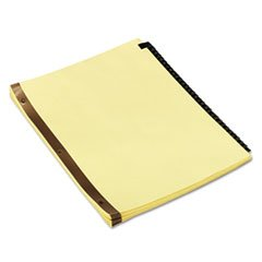ok Mylar Tab Dividers, 31 Numbered Tabs, Letter, Black/Gold, Set of 31 (Mylar Tabs)