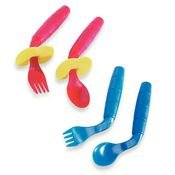 EasieEaters Curved Utensils - Left-handed Utensils without Shield