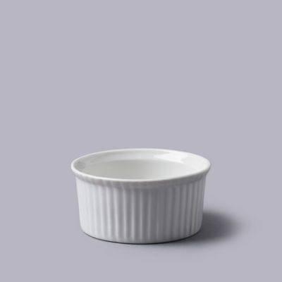 White Ceramic Ramekin 8cm x 3.5cm - Perfect Creme Brulee