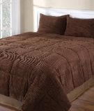 Corduroy 3 Brown Piece (Cozy Quarters Inc Corduroy 3-Piece Comforter Set Chocolate King)