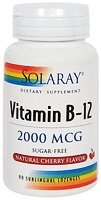 Solaray, Vitamin B 12 2000mcg, 90 Tablets
