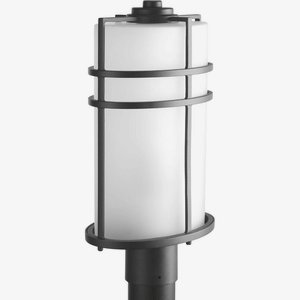 Progress Lighting P6428-31 1 LT Post Lantern with Etched Glass, 9.5