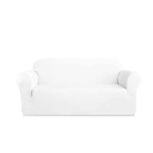 DyFun 1-Piece Knit Spandex Stretch Dining Room Slipcovers (Sofa, White)