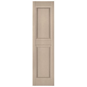 Mid America 16.5u0026quot; X 44u0026quot; Paintable P2 Raised Panel Vinyl Exterior  Shutters (