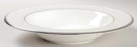 Noritake Silver Palace Rim Soup Bowl, Fine China Dinnerware