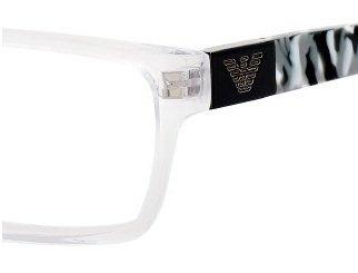 Emporio Armani EA9594 Eyeglasses - 0CRK Crystal Black - - Armani Emporio Sale