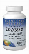 Planetary Herbals Full Spectrum Cranberry Concentrate 100 Tablets, 45 Count