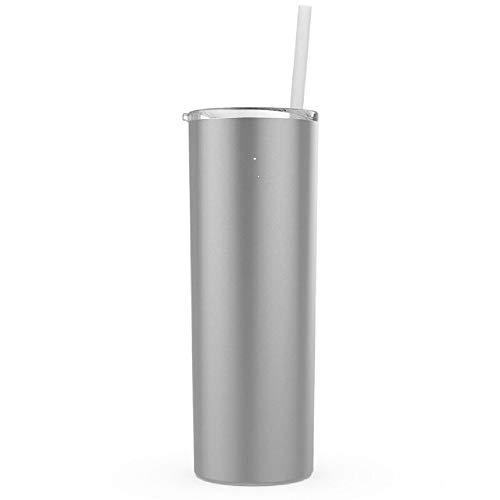 Maars Skinny Steel Stainless Steel Tumbler, 20 oz | Double Wall Vacuum Insulated (Silver) by Maars®