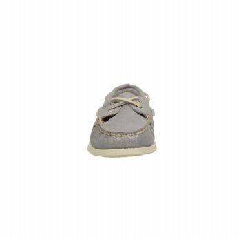 Sperry Top-Sider Women's A/O 2 Eye Silver Sparkle Suede Boat Shoe 9.5 M (B)