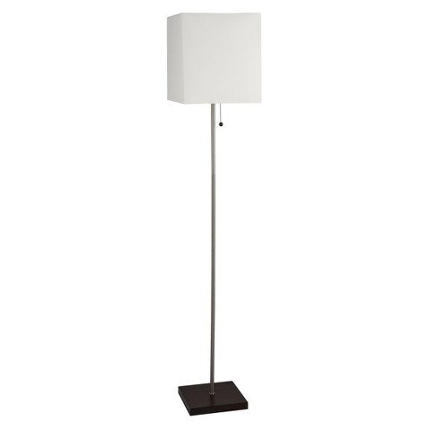 Cow Square - Threshold Square Stick Floor Lamp - White