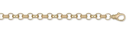 Gravure En Or 9ct Uni et Bracelet en chaîne Belcher 22,9cm
