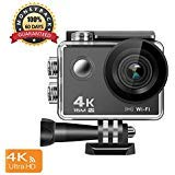 4K Action Camera, 16MP WiFi Anti-Shake Waterproof Sports Camera with high-tech Sensor, 170 Degree Ultra Wide Angle 2.0 Inch LCD Screen