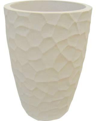 Japi Pottery JVOP53S 53 cm Prisma Conica Planter44; Sandstone