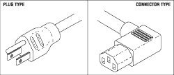 Industrial Grade Power Cord for Tuttnauer TUC028