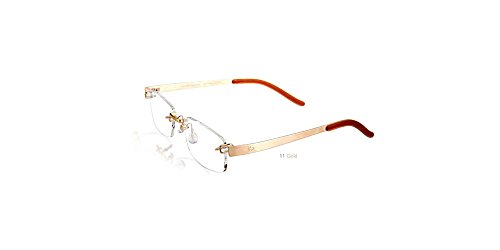 Kazuo Kawasaki Eyeglasses 704 Sarah Palin Eyeglasses, Gold 11 (Size 51, Shape - Eyeglasses Titanium Brands
