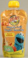 Earth's Best Sesame Street Organic Fruit Yogurt Smoothie Peach Banana -- 4.2 fl oz