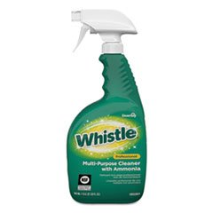 Diversey Whistle Professional Multi-Purpose Cleaner With Ammonia, Fresh, 32 Oz, 8/Carton