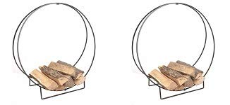 Panacea 15210 40-Inch Solid Steel Log Hoop (2-(Pack))