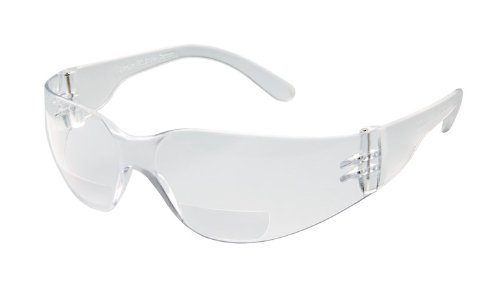 Gateway Safety 46MA10 StarLite MAG Safety Glasses, 1.0 Diopter Magnification, Clear Anti-Fog Lens, Clear Temple