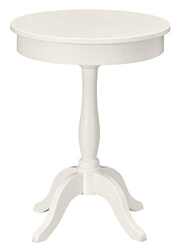 Ravenna Home Morley Classic Round Pedestal Accent Side End Table Nightstand, 20