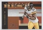 - Willie Parker #791/1,000 (Football Card) 2008 Donruss Classics - Sunday's Best #SB-8
