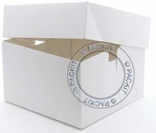 "Kingscroft Logistics LTD Color Blanco Cajas de cartón cuadradas para Tartas 12 ""X 12"""
