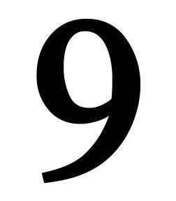 Wrought Iron House Number 9 Black Metal 6 Number by Home Village Wrought Iron NUM-8