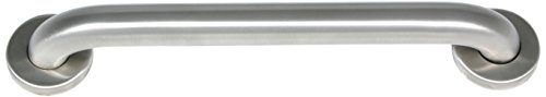 CSI Bathware BAR-SB32-TW-125-SA 32-Inch Grab Bar Straight Safety Bar Concealed Flanges, Stainless Steel Satin Finish (32 Decorative Grab Bar)