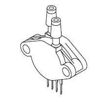 Board Mount Pressure Sensors UNCOMPENSATED, Pack of 10 (MPX53DP)