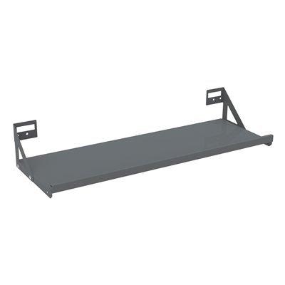 AkroShelf - Louvered Panel & Wall-Mount Shelf 35.63X12.75 Brackets Fit Louvered Panels & Racks (4 Case)