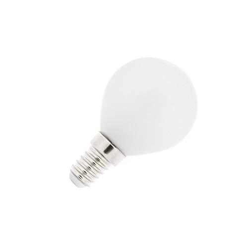 Bombilla LED E14 Esférica Glass 4W Blanco Neutro 4000K-4500K efectoLED: Amazon.es: Iluminación