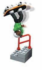 Mega Bloks 96503 Stair Shred Micromotion Skateboarder