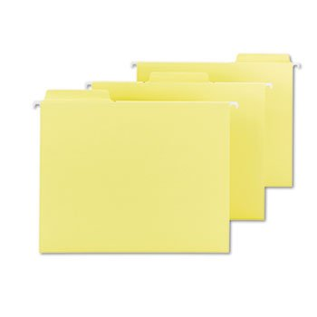 Fastab Hanging 64097 - Smead 64097 FasTab Hanging File Folders Letter Yellow 20/Box