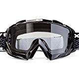 - BATFOX Motorcycle Goggles Dirt Bike ATV Motocross Safety ATV Tactical Riding Motorbike Glasses Goggles for Men Women Youth Fit Over Glasses UV400 Protection Shatterproof (Black&clear)