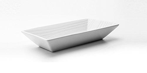 BIA Cordon Bleu White Porcelain 8 x 4.5 inch Serving Bowl - Woods Design - Set of 4