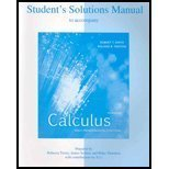 Student's Solutions Manual to accompany Calculus, Multivariable: Early Transcendental Functions