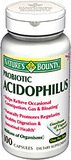 Nature's Bounty PROBIOTIC ACIDOPHILUS 10 mg - 100 Capsules
