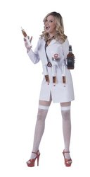[Dr. Shots Costume - Small/Medium - Dress Size 2-8] (Shot Doctor Costume)