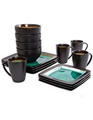 Gibson 65967.16R Everyday Ocean Oasis 16-Piece Dinnerware Set, Turquoise Color -